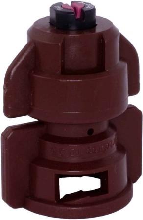TurboDrop Brown Ceramic-Polyacetal-EPDM High Pressure Full Ceramic TwinFan Spray Nozzle