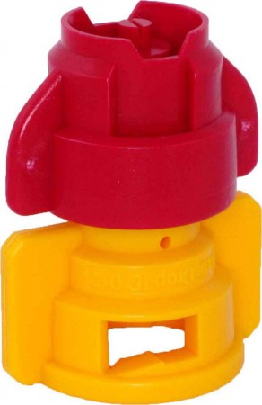 TurboDrop XL Red/Yellow Ceramic-Polyacetal-EPDM Medium Pressure Spray Nozzle