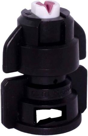 TurboDrop Black Ceramic-Polyacetal-EPDM High Pressure Full Ceramic TwinFan Spray Nozzle