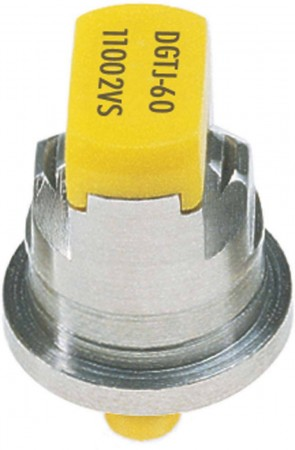 DG TwinJet Yellow Acetal-Stainless Steel Drift Guard Twin Flat Spray Tip Nozzle