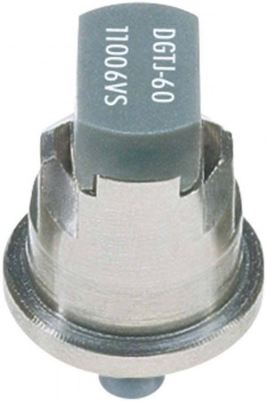 DG TwinJet Grey Acetal-Stainless Steel Drift Guard Twin Flat Spray Tip Nozzle