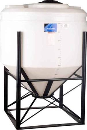 345 Gallon Cone Bottom Tank w/ Stand