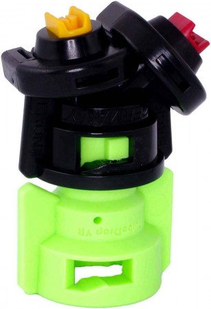 TurboDrop Black/Lime Green Polyacetal-SS-EPDM Variable Rate Spray Nozzle