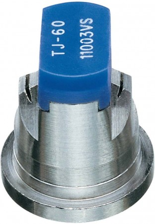 TwinJet Blue Acetal-Stainless Steel Twin Flat Spray Tip Nozzle