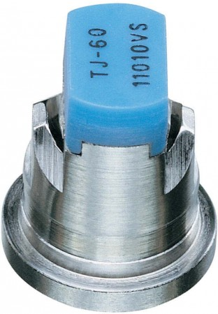 TwinJet Light Blue Acetal-Stainless Steel Twin Flat Spray Tip Nozzle