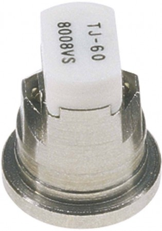 TwinJet White Acetal-Stainless Steel Twin Flat Spray Tip Nozzle