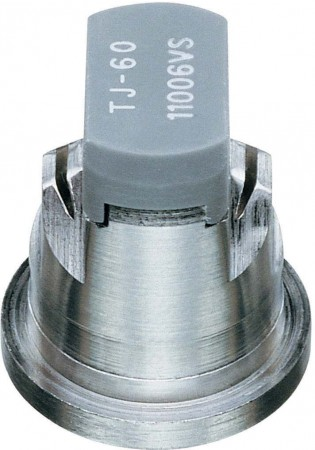 TwinJet Grey Acetal-Stainless Steel Twin Flat Spray Tip Nozzle