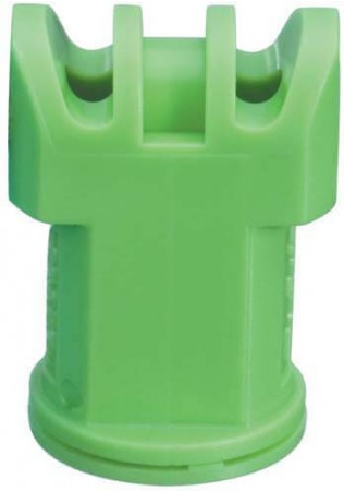 Air Induction Turbo TwinJet Light Green Acetal Polymer with cap/gasket Twin Flat Spray Tip Nozzle