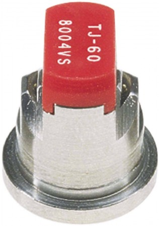 TwinJet Red Acetal-Stainless Steel Twin Flat Spray Tip Nozzle