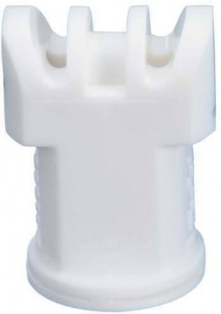 Air Induction Turbo TwinJet White Acetal Polymer Twin Flat Spray Tip Nozzle