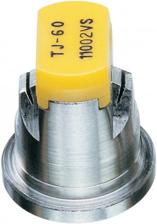TwinJet Yellow Acetal-Stainless Steel Twin Flat Spray Tip Nozzle
