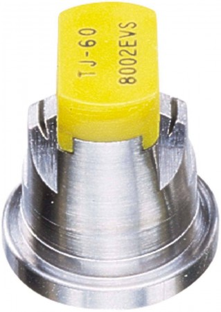 TwinJet Yellow Acetal-Stainless Steel Even Flat Spray Tip Nozzle