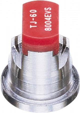 TwinJet Red Acetal-Stainless Steel Even Flat Spray Tip Nozzle