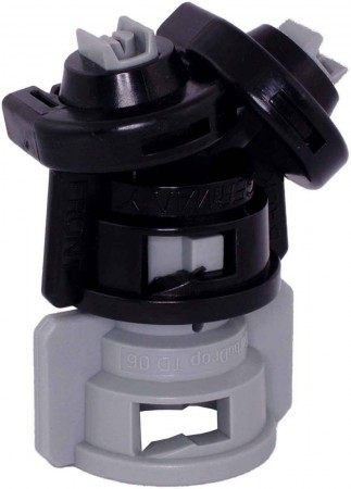TurboDrop Black/Gray Polyacetal-Ceramic Medium Pressure DualFan Spray Nozzle