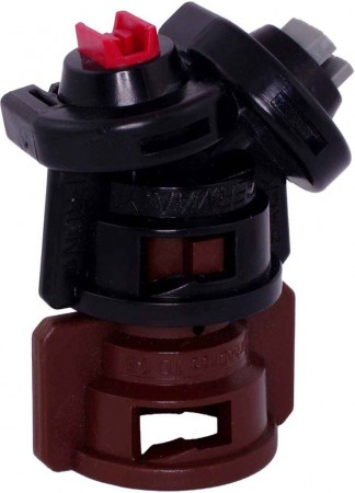 TurboDrop D Black/Brown Polyacetal-Ceramic Medium Pressure DualFan Spray Nozzle
