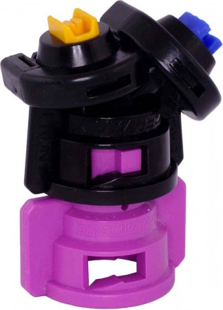 TurboDrop Black/Pink Polyacetal-EPDM Medium Pressure DualFan Spray Nozzle