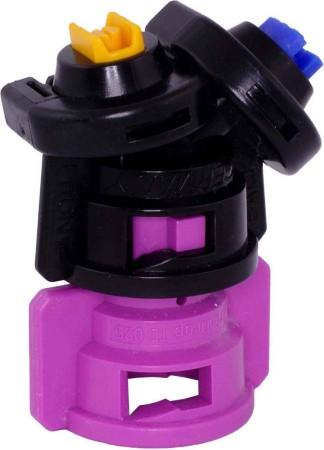 TurboDrop Black/Pink Polyacetal-Ceramic Medium Pressure DualFan Spray Nozzle