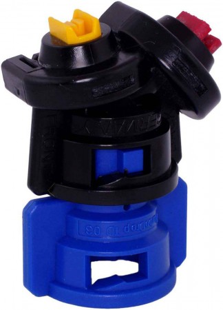 TurboDrop Black/Blue Polyacetal-Ceramic Medium Pressure DualFan Spray Nozzle