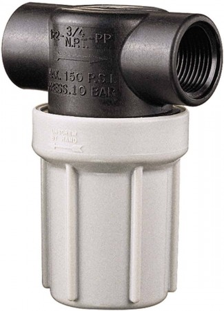 """1/2"""" FPT Compact Poly T-Line Strainer"""