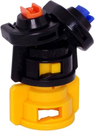 TurboDrop Black/Yellow Polyacetal-Ceramic Medium Pressure DualFan Spray Nozzle