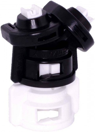 TurboDrop Black/White Polyacetal-Ceramic Medium Pressure DualFan Spray Nozzle