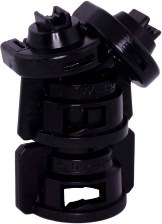 TurboDrop Black Polyacetal-Ceramic Medium Pressure DualFan Spray Nozzle