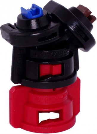 TurboDrop Black/Red Polyacetal-Ceramic Medium Pressure DualFan Spray Nozzle