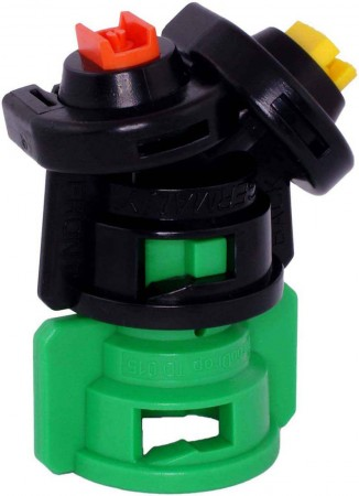 TurboDrop Black/Green Polyacetal-Ceramic Medium Pressure DualFan Spray Nozzle