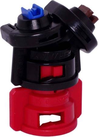 TurboDrop Black/Red Polyacetal-EPDM Medium Pressure DualFan Spray Nozzle