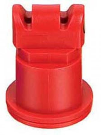 Air Induction Turbo TwinJet Red Acetal Polymer Twin Flat Spray Tip Nozzle