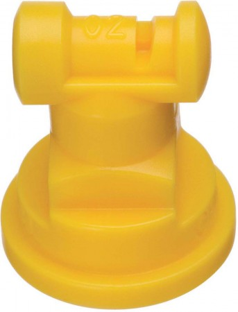 Turbo TeeJet Yellow Acetal Polymer with cap/gasket Wide Angle Flat Spray Tip Nozzle