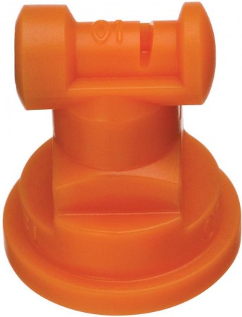Turbo TeeJet Orange Acetal Polymer Wide Angle Flat Spray Tip Nozzle