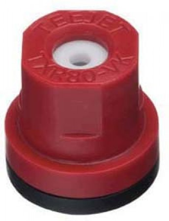 TXR ConeJet Red Acetal-Ceramic Hollow Cone Spray Tip Nozzle