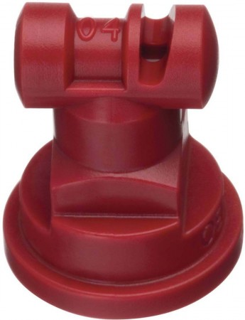 Turbo TeeJet Red Acetal Polymer with cap/gasket Wide Angle Flat Spray Tip Nozzle
