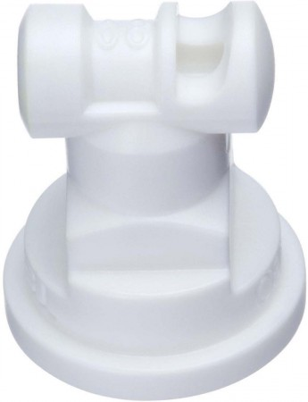 Turbo TeeJet White Acetal Polymer Wide Angle Flat Spray Tip Nozzle