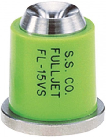FullJet Light Green Acetal-Stainless Steel with Celcon Wide Angle Full Cone Spray Tip Nozzle