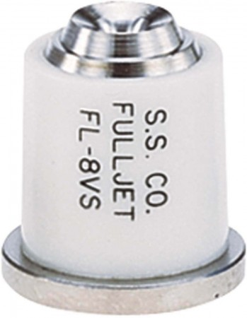 FullJet White Acetal-Stainless Steel Wide Angle Full Cone Spray Tip Nozzle