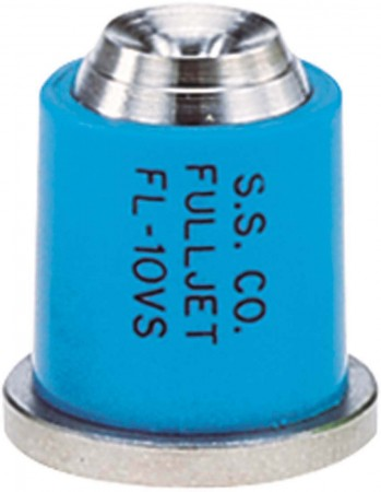 FullJet Light Blue Acetal-Stainless Steel with Celcon Wide Angle Full Cone Spray Tip Nozzle