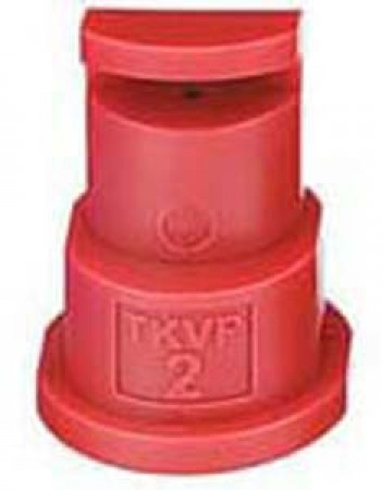 FloodJet Red Acetal Polymer Wide Angle Flat Spray Tip Nozzle