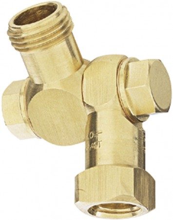 """1/8"""" FPT 1 Outlet Swivel Nozzle Body"""