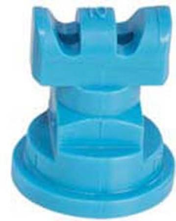 Turbo TwinJet Light Blue Acetal Polymer Twin Flat Spray Tip Nozzle