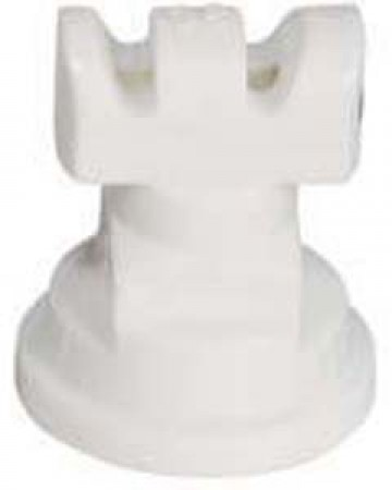 Turbo TwinJet White Acetal Polymer Twin Flat Spray Tip Nozzle