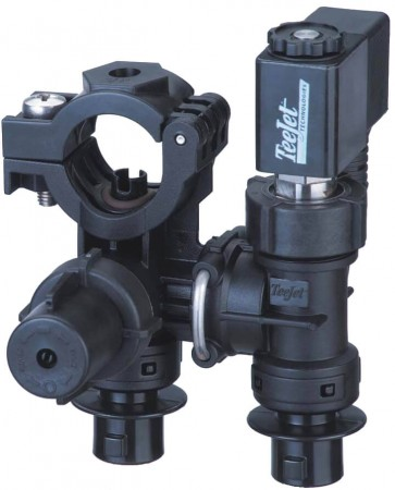 """1"""" Pipe 2 Outlet Stackable Nozzle Body Assembly for Wet Applications"""