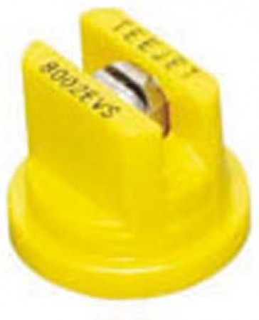 TeeJet Yellow Acetal-Stainless Steel VisiFlo Flat Spray Tip Nozzle