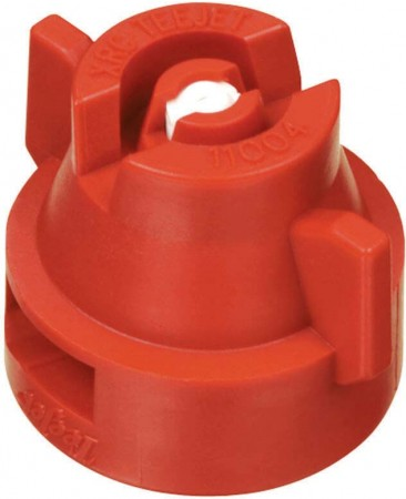 XRC TeeJet Red Acetal-Ceramic Extended Range Flat Spray Tip Nozzle
