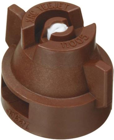 XRC TeeJet Brown Acetal-Ceramic Extended Range Flat Spray Tip Nozzle