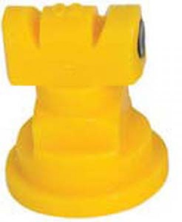 Turbo TwinJet Yellow Acetal Polymer Twin Flat Spray Tip Nozzle