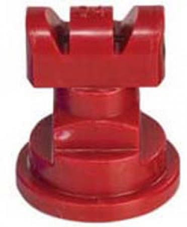 Turbo TwinJet Red Acetal Polymer Twin Flat Spray Tip Nozzle