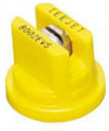 TeeJet Yellow Acetal-Stainless Steel Even Flat Spray Tip Nozzle