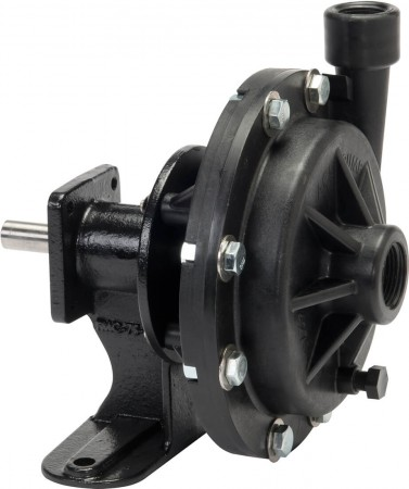 "Belt Driven Poly Pump with 1"" Suction x  3/4"" Discharge"
